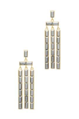 Jet Hem Crystal Gold Desi Earrings by Gorjana Accessories