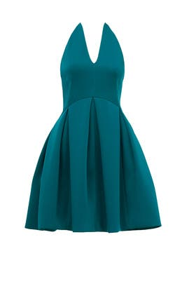 Teal Dance Dress by HALSTON