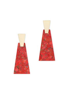 Red Magnesite Collins Statement Earrings by Kendra Scott