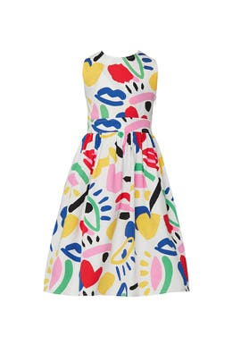 Kids Graphic Face Dress by Stella McCartney Kids