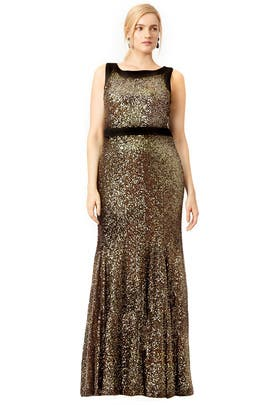Gold Front and Center Gown by Badgley Mischka