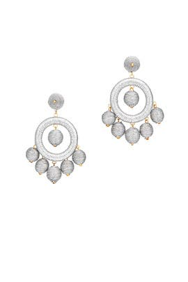 Silver Wrap Circle Earrings by Kenneth Jay Lane