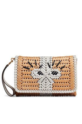 Straw Neeson Clutch  by Anya Hindmarch