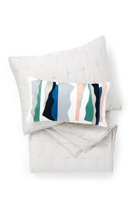 Full/Queen Crescent Stitch Quilted Bundle by West Elm