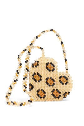 Multi Leopard Heart Bag by Susan Alexandra