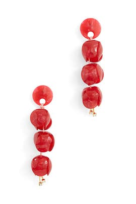 Red Bellflower Linear Earrings by Lele Sadoughi