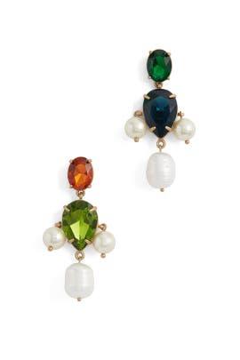 Pearl Multi Stone Drop Earrings by Tory Burch Accessories