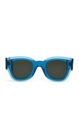 Petrol Blue Zoe Sunglasses by Céline