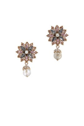 Floral Drop Earrings by Marchesa Jewelry