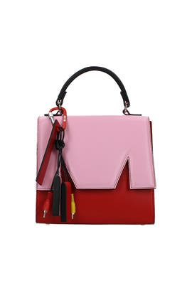Pink M Satchel by MSGM Handbags