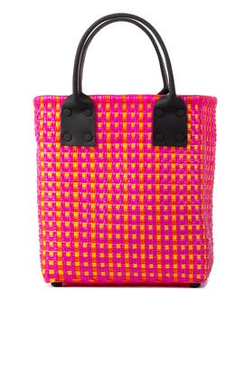 Small Printed Woven Tote by Truss