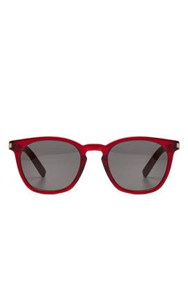Translucent Red Sunglasses by Saint Laurent