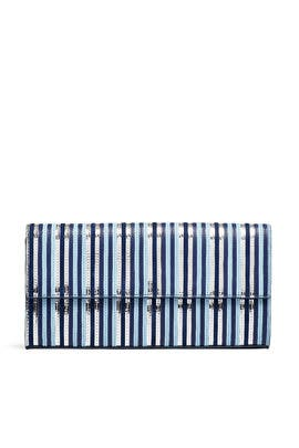 Blue East West Clutch by Diane von Furstenberg Handbags