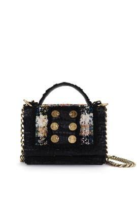 Black Tweed Manhattan Shoulder Bag by Kooreloo