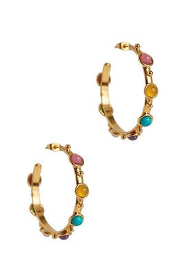 Multi Summer Petite Candy Hoops by Sylvia Toledano