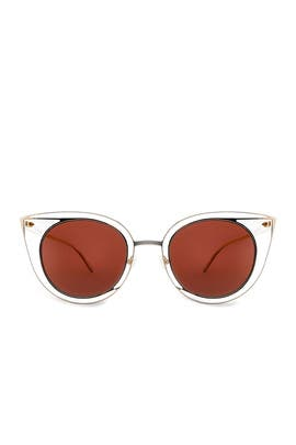 Gold Morphology Sunglasses by Thierry Lasry