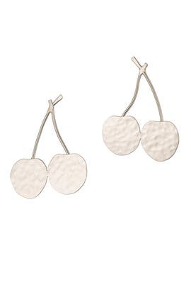 Sliver Cherry Earrings by Anndra Neen