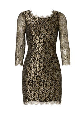 Golden Shadow Sheath by Diane von Furstenberg