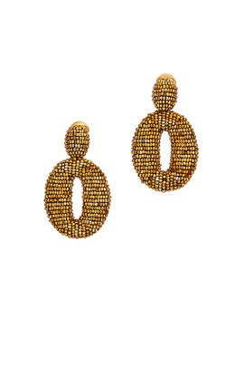 Gold Oscar O Earrings by Oscar de la Renta