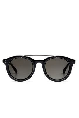 Dark Nickel Sunglasses by Linda Farrow