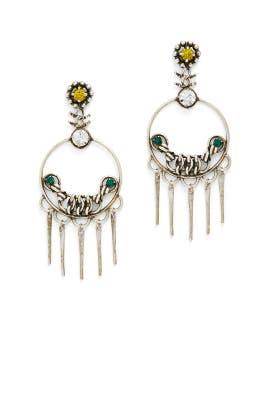 Silver Tukker Earrings by Dannijo