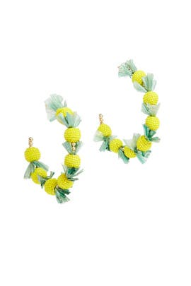 Pineapple Hoops by Kenneth Jay Lane
