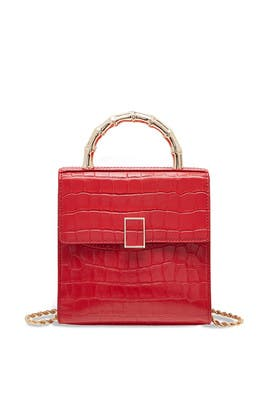 Red Tani Mini Square Crossbody Bag by Loeffler Randall