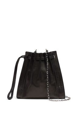 Black Florence Mini Pleated Drawstring Tote by 3.1 Phillip Lim Accessories