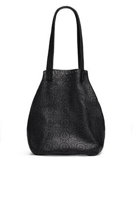 Cutout Black Classic Tote by Cleobella Handbags