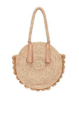 Fallon Large Straw Circle Tote by Loeffler Randall