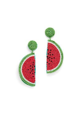 Beaded Melon Drop Earrings by Kenneth Jay Lane