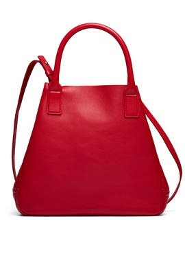 Red Runwell Tote by Shinola