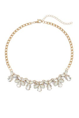 Crystal Floral Necklace by Slate & Willow Accessories
