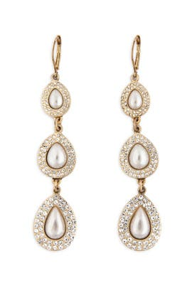 Teardrop Pearl Earrings By Nicole Miller Accessories