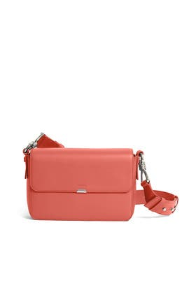 Coral Pink Captain Leather Flap Crossbody by AllSaints