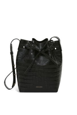 Black Mini Bucket Bag by Mansur Gavriel Accessories