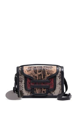 Snake Embossed Alpha Bag by Pierre Hardy