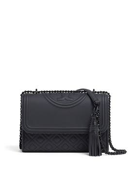 Black Fleming Small Convertible Bag by Tory Burch Accessories