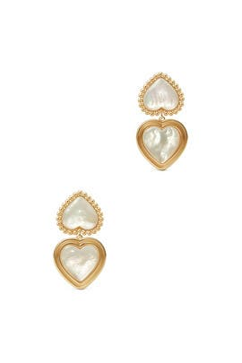 Heart Statement Earrings by Tory Burch Accessories