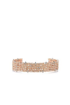 Rose Gold Pave Cuff by Alexis Bittar