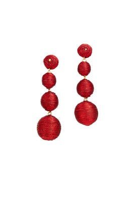 Red Wrap Drop Earrings By Kenneth Jay Lane