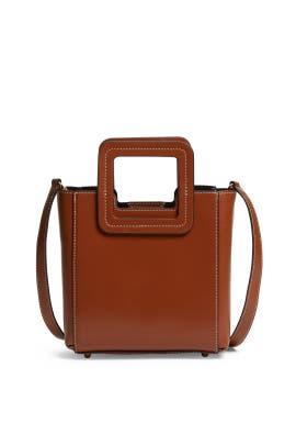 Tan Mini Shirley Bag by Staud Accessories