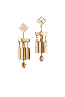 Mother of Pearl Mobile Earrings by Tory Burch Accessories