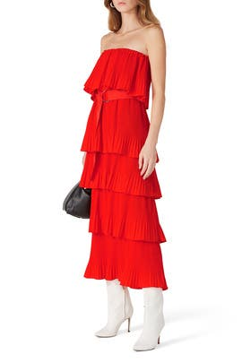 Valentina Ruffled Dress by Essentiel Antwerp