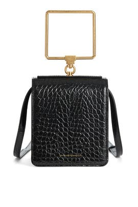 Black Croc Pump Bag by Marge Sherwood