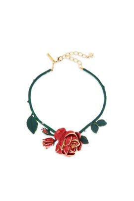 Rose Resin Necklace by Oscar de la Renta