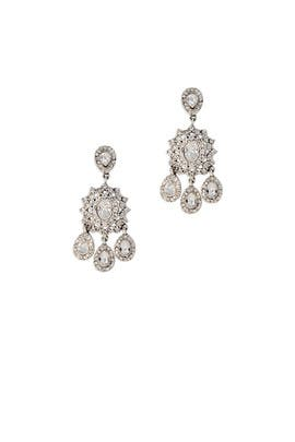 Silver Crystal Earrings by Slate & Willow Accessories