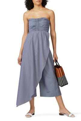 Wrap Overlay Ruched Bodice Jumpsuit by TEIJA