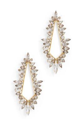 Crystal Diana Earrings by Elizabeth Cole
