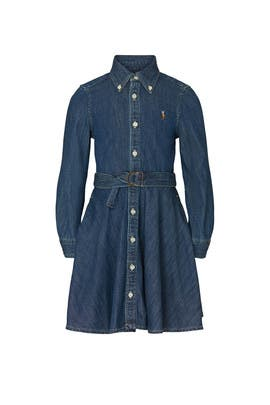 Kids Denim Shirt Dress by Ralph Lauren Kids